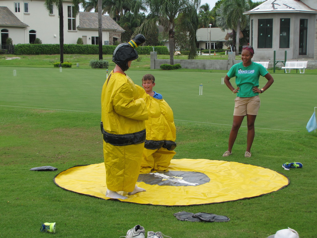 Sumo Wrestling at Summer Camp