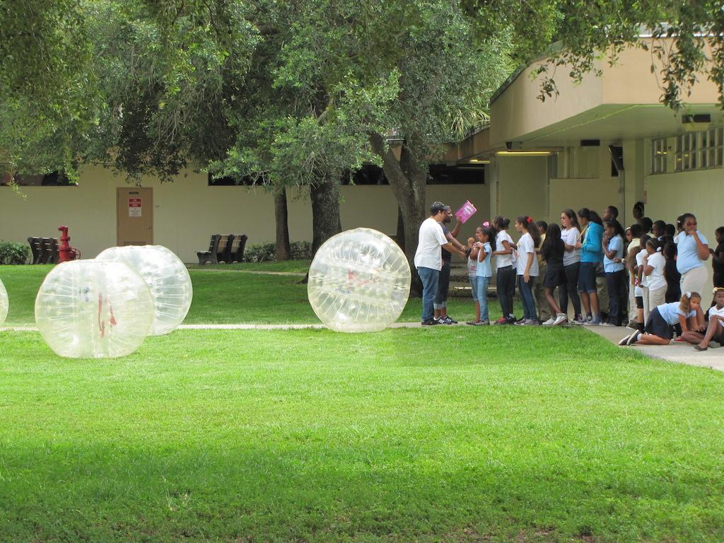 Bumper Balls at School