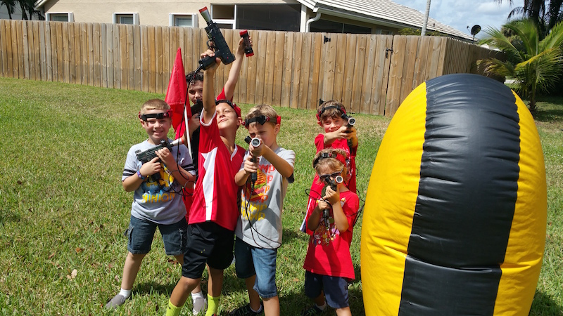 Charming Backyard Laser Tag Photo
